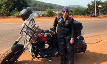Woman biker's path-breaking adventure on Harley