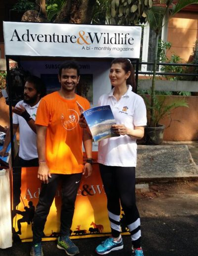 sangeetha actress at adventure & wildlife magazine subscription drive