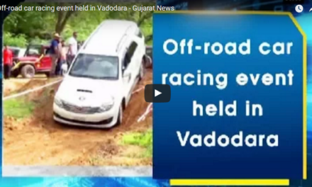 Off-road car racing event held in Vadodara