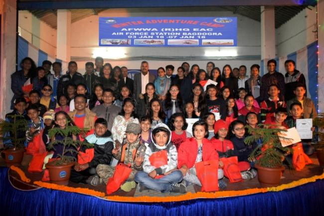 Eastern Air Command Winter adventure camp concludes