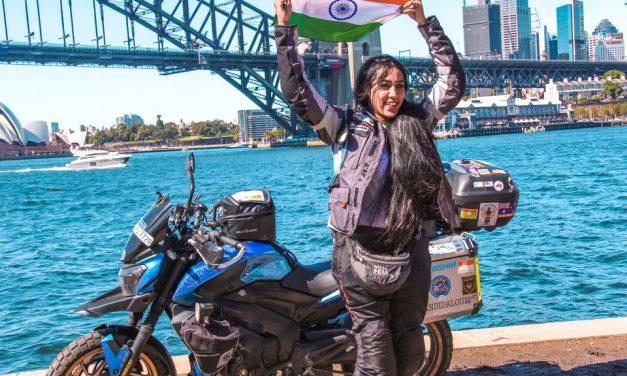 Candida Louis Solo Biking From India to Australia